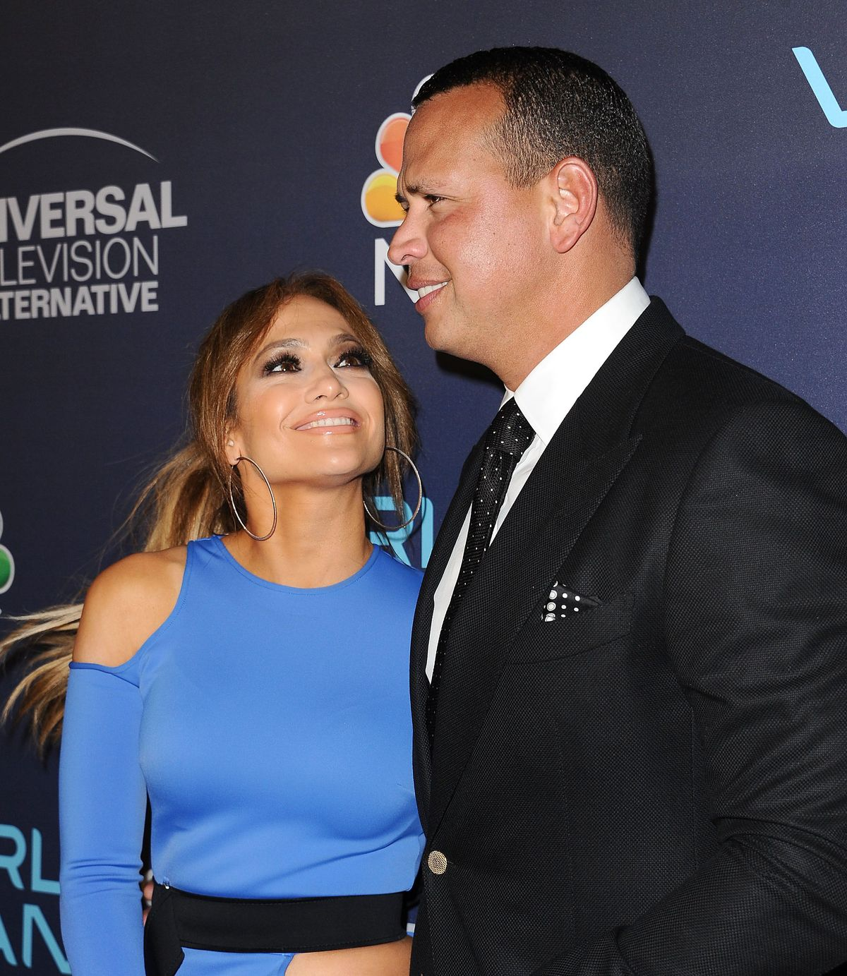 Jennifer Lopez y Alex Rodriguez en la celebración de World of Dance 2017